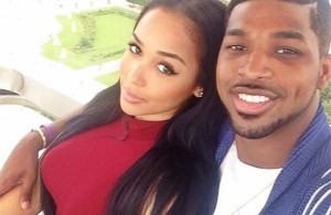 Tristan Thompson and his girlfriend