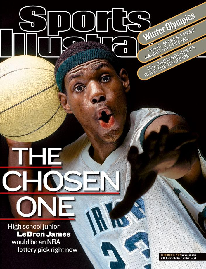 LeBron James rookie sports illustrated