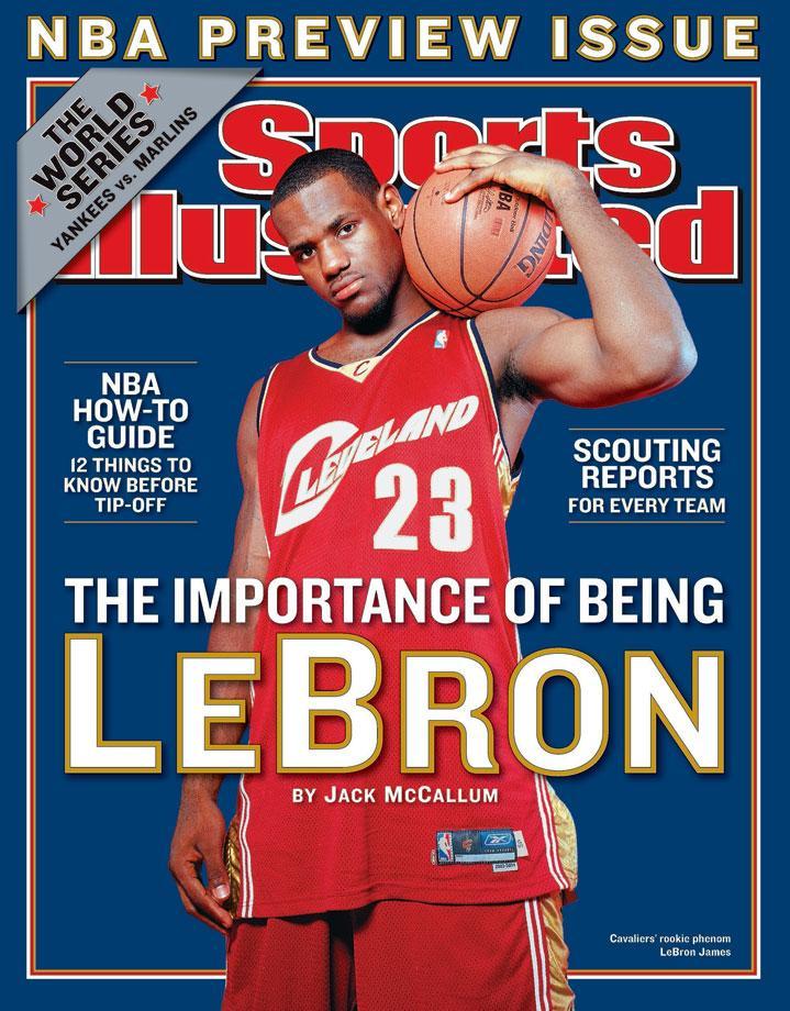LeBron James rookie season sports illustrated