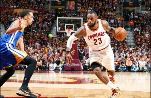 LeBron James against the Golden State Warriors