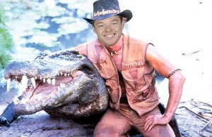 Matthew Dellavedova as Crocodile Dundee