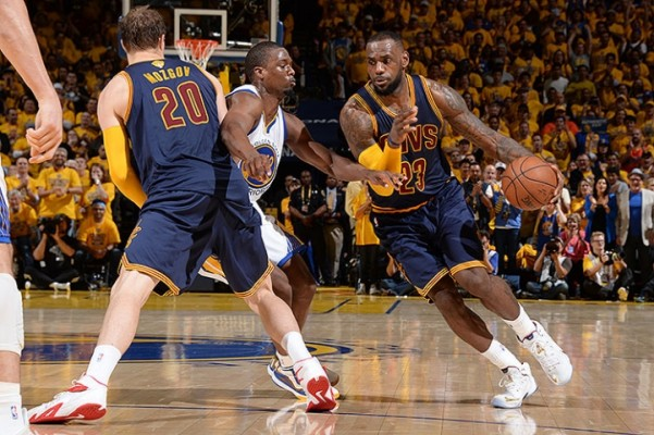 LeBron James vs. Golden State on June 4, 2015