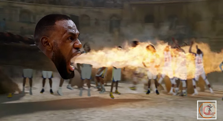 Video: LeBron Torches Warriors in Game of Thrones Spoof