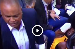Video: Nike Executive Curses out Cameraman After LeBron's Head Injury