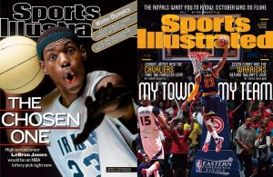 A Progression of LeBron James in the Form of Sports Illustrated Covers