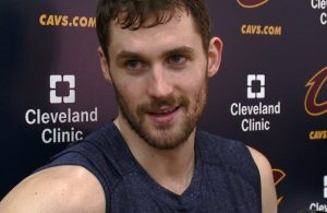 Kevin Love with the Cleveland Cavaliers
