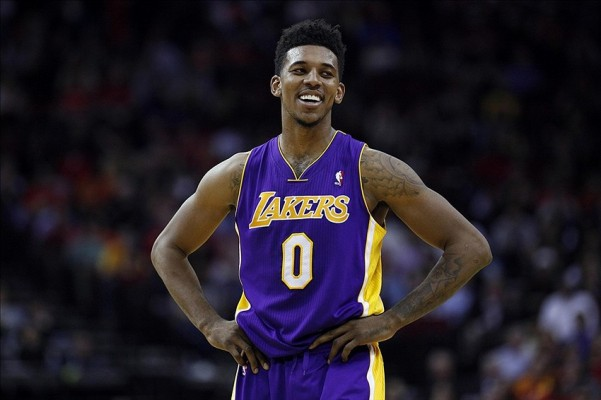 Nick Young of the Los Angeles Lakers