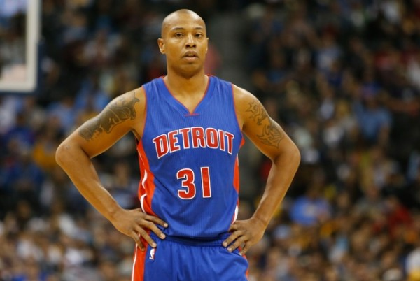 Oct 29, 2014; Denver, CO, USA; Detroit Pistons forward Caron Butler (31) during the game against the Denver Nuggets at Pepsi Center. The Nuggets won 89-79.  Mandatory Credit: Chris Humphreys-USA TODAY Sports