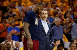 David Blatt and LeBron James