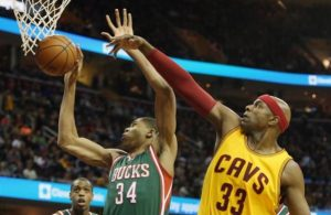 Brendan Haywood of the Cavs