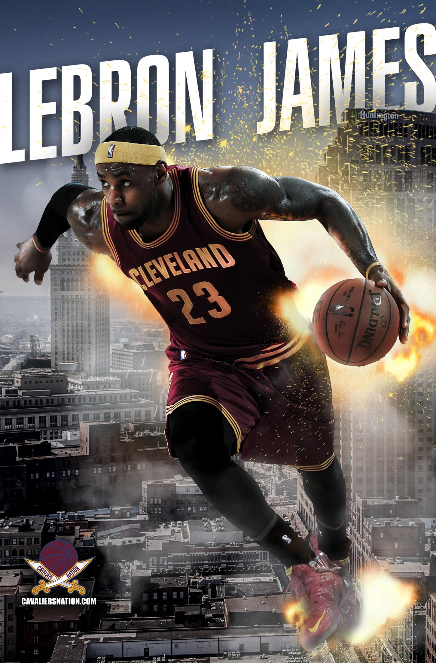 "LeBron James ""Exploding"" Wallpaper Mobile"