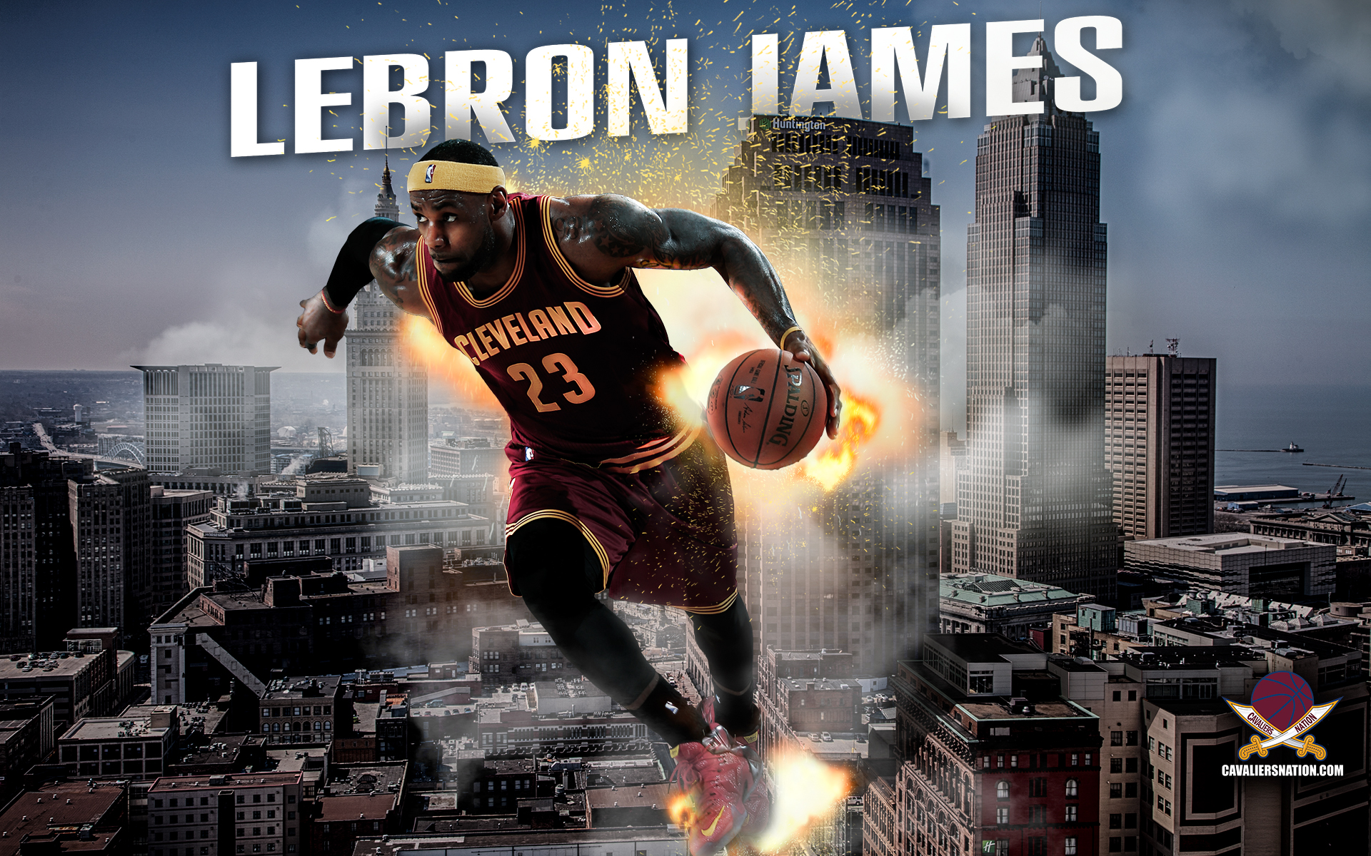 "LeBron James ""Exploding"" Wallpaper"