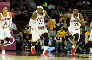 LeBron James fast break