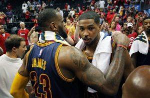 LeBron James and Tristan Thompson