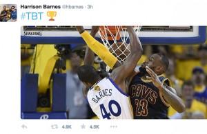 Harrison Barnes Takes Shot on Twitter at LeBron James