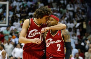 Anderson Varejao and Mo Williams
