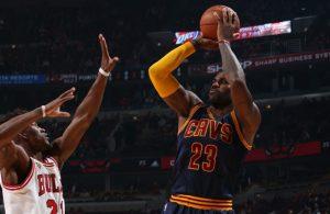 LeBron James vs. Chicago Bulls on October 27, 2015