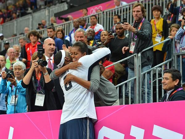 LeBron James and Michelle Obama