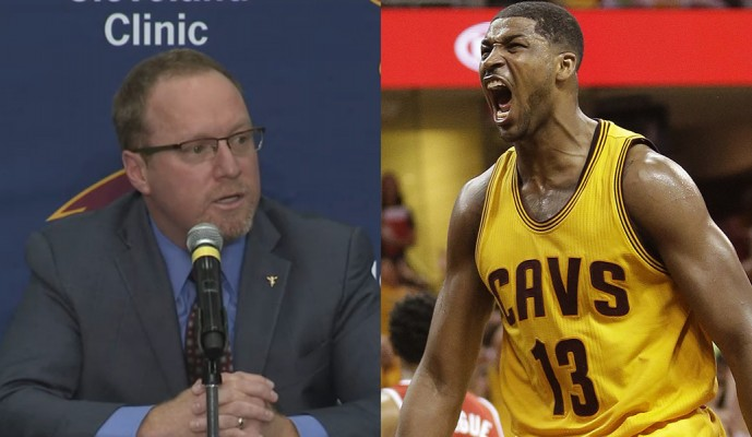 David Griffin and Tristan Thompson