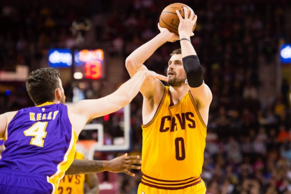 Kevin Love jump shot Cleveland Cavaliers