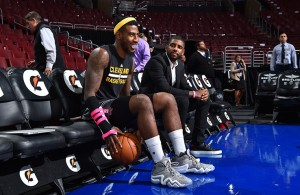 Iman Shumpert and Kyrie Irving