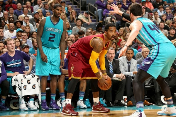 J.R. Smith against the Charlotte Hornets