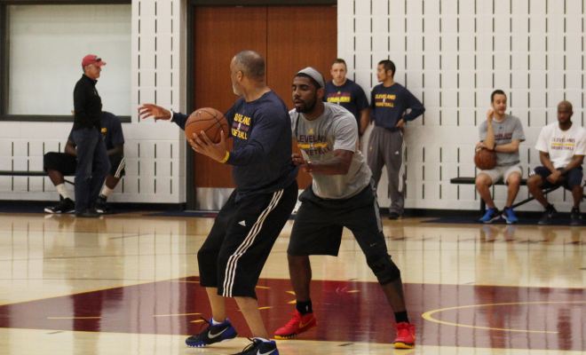 Kyrie Irving Practicing