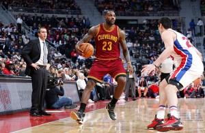 LeBron James vs. Detroit Pistons on November 17, 2015