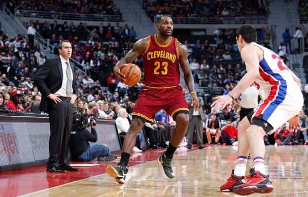 LeBron James vs. Detroit Pistons on November 17, 2015