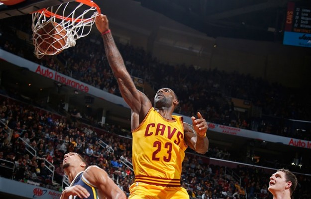 LeBron James vs. Utah Jazz on November 10, 2015