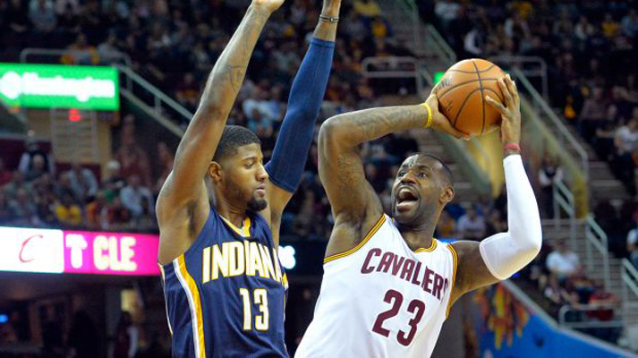 Paul George and LeBron James