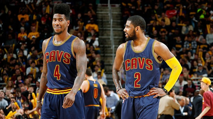 Kyrie Irving and Iman Shumpert