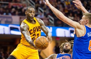 LeBron James vs. New York Knicks on December 23, 2015
