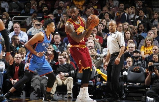LeBron James vs. Oklahoma City Thunder on December 17, 2015