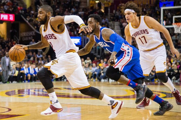 Kyrie Irving against 76ers