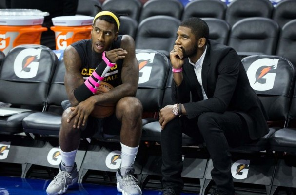 Kyrie Irving and Iman Shumpert Cavs