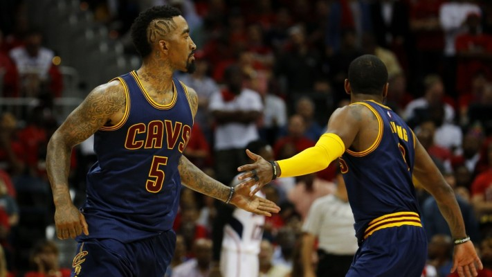 Return of Kyrie Irving Taking J.R. Smith's Game to New Heights
