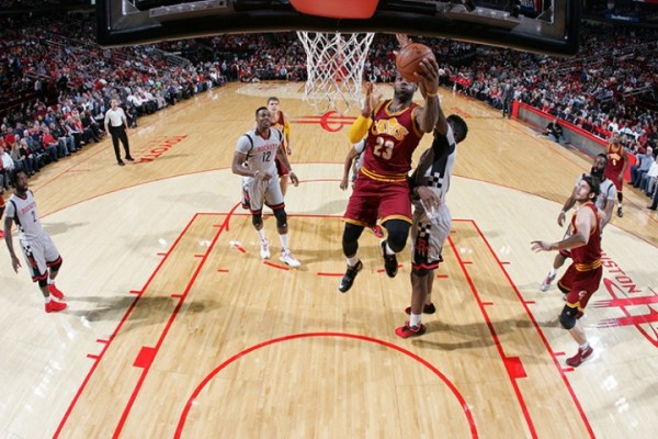 LeBron James vs. Houston Rockets on January 15, 2016