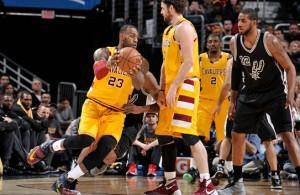LeBron James vs. San Antonio Spurs on January 30, 2016