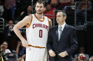 Kevin Love and David Blatt