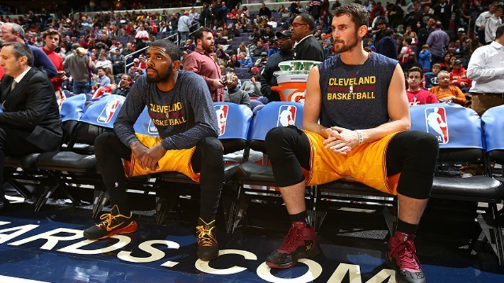 Kyrie Irving and Kevin Love