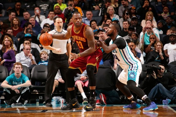 LeBron James vs. Charlotte Hornets on February 3, 2016