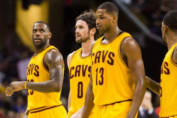 LeBron James, Kevin Love, Tristan Thompson