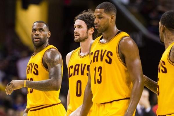 LeBron James, Kevin Love, Tristan Thompson