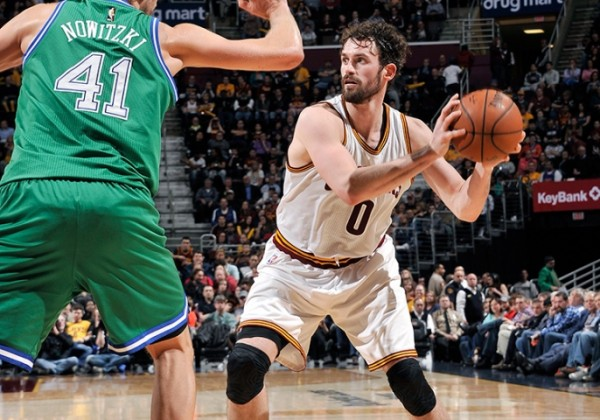 Kevin Love vs. Dallas Mavericks on March 16, 2016