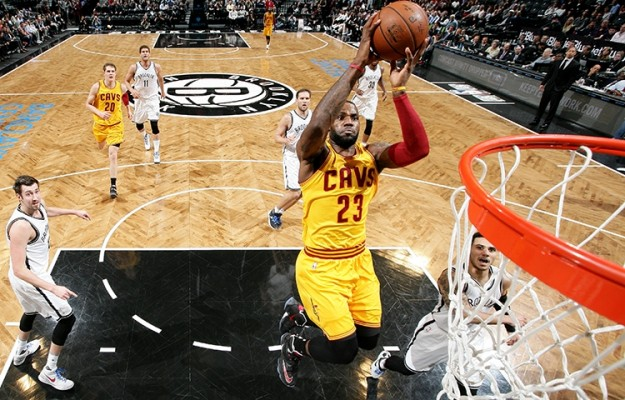 LeBron James vs. Brooklyn Nets on March 24, 2016