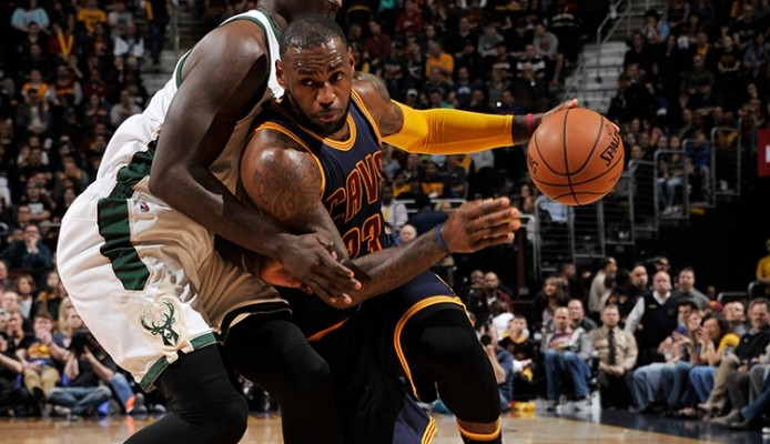 LeBron James vs. Milwaukee Bucks on March 23, 2016