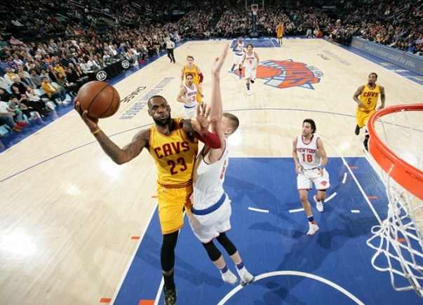LeBron James vs. New York Knicks on March 26, 2016