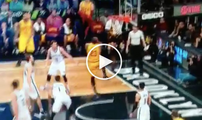 Video LeBron James Splits Defense And Throws Down Nasty Reverse Dunk