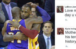 LeBron James, Kyrie Irving, and Kobe Bryant